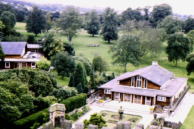 Conference hall seen from main tower, Capernwray Hall