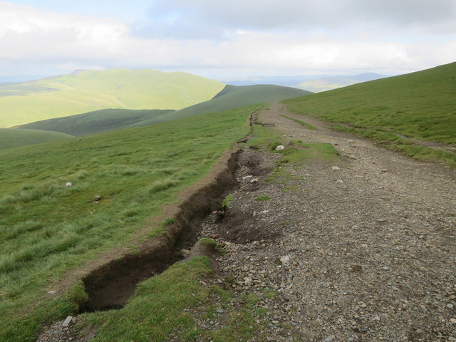 Erosion by the path descending Skiddaw