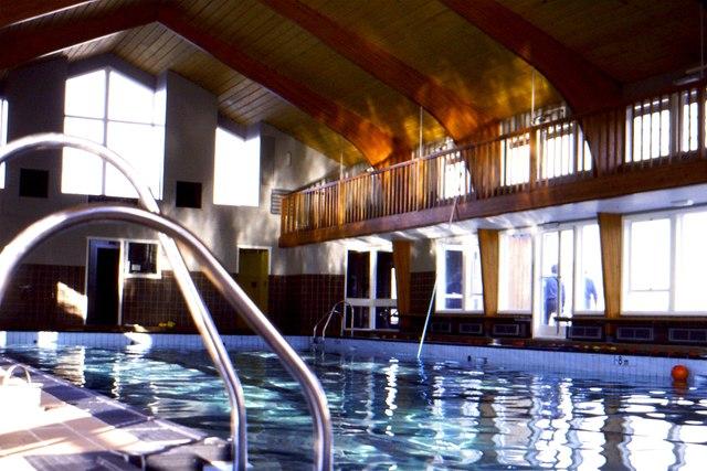 Capernwray Hall swimming pool, January 1976