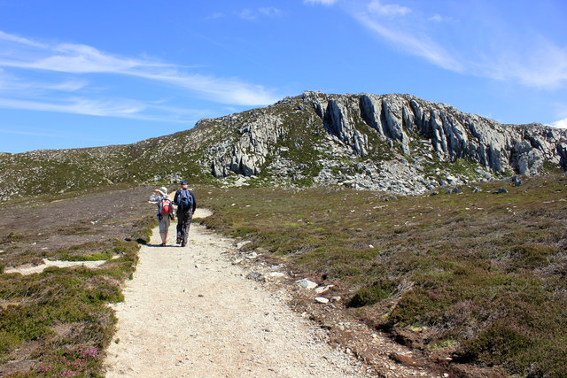 The Anglesey Coastal Path approaching Holyhead Mountain
