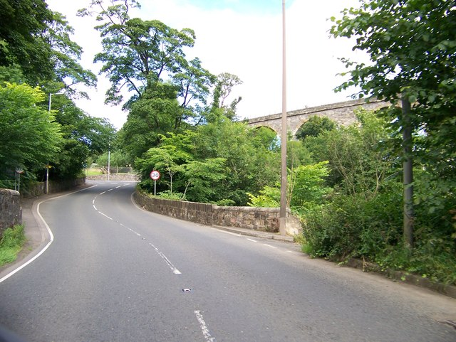 A735 approaching Stewarton