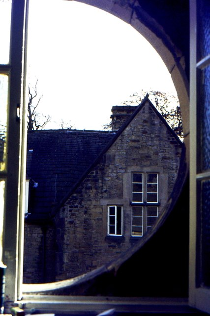 View across rear courtyard, Capernwray Hall