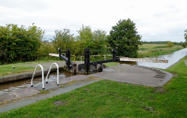 Baddiley No 3 Lock near Ravensmoor in Cheshire