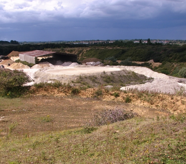 View into the Caistor chalk pit