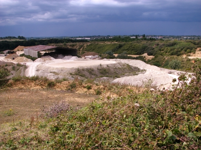 Large shed in the Caistor chalk pit
