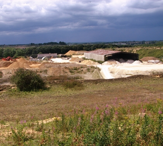 The chalk pit and quarry at Caistor St Edmund