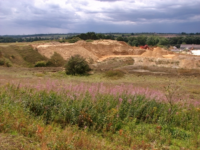 View across the Caistor chalk pit
