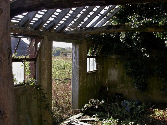 View from derelict buildings, Copshall Farm