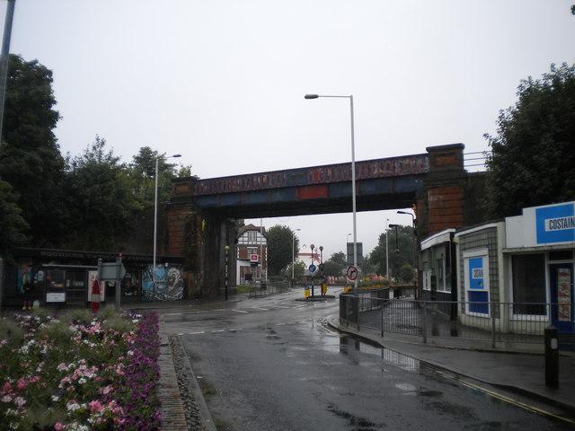 Railway bridge east of Folkestone Central station