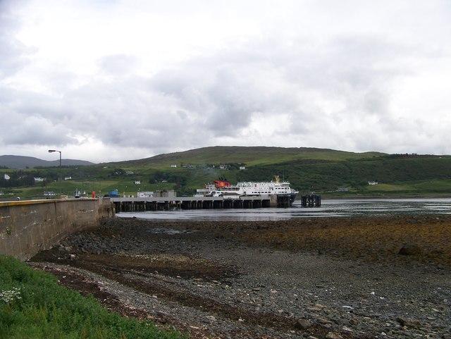 Caledonian MacBrayne Ferry at Uig Pier