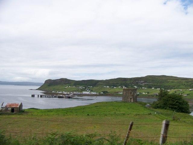 Captain Fraser's Folly and Uig bay