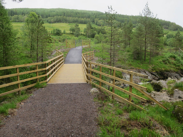 New bridge over Crom Allt