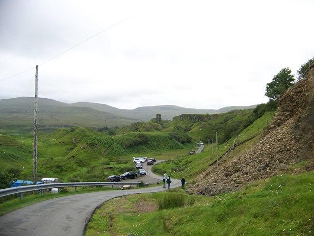 The road through the Fairy Glen
