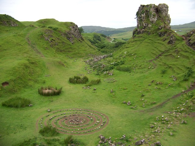 Castle Ewen and some fairy rings and spirals