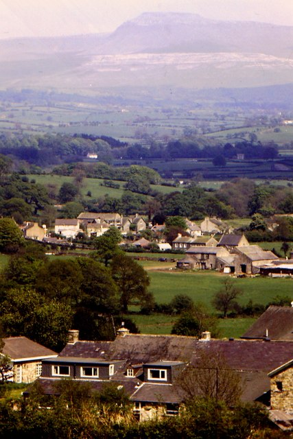 Arkholme and Ingleborough seen from Locka