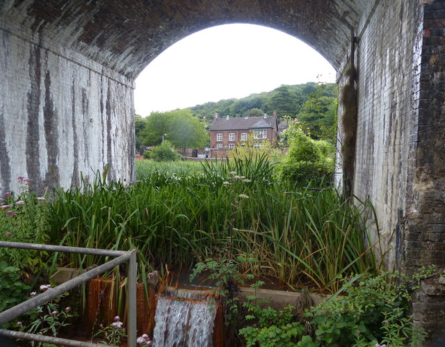 Arch under the Coalbrookdale Viaduct