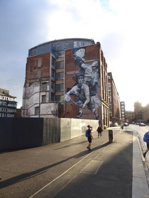 Mural celebrating the Commonwealth Games, 2014, in Wilson Street