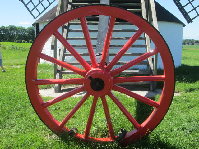 Red wheel at Pitstone Windmill