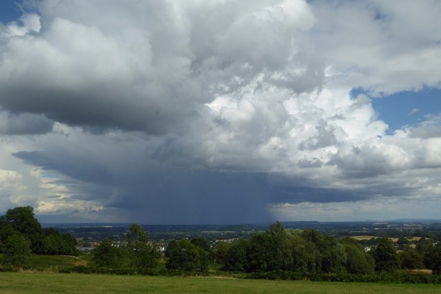 A thunderstorm over Worcestershire