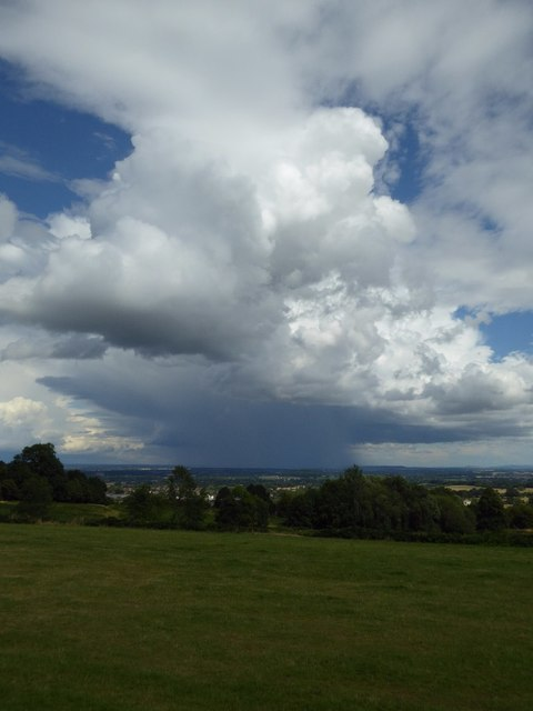 Thunder clouds over Worcestershire