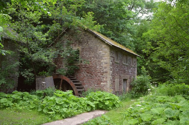 Disused Mill and Waterwheel on the River Wye, Derbyshire