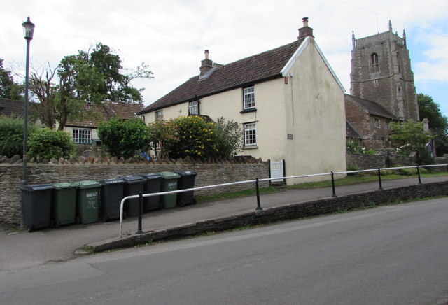 Wheelie bins, High Street, Iron Acton