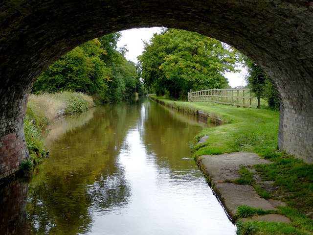 Llangollen Canal north-west of Ravensmoor in Cheshire