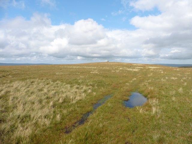 Ridge track on Mickle Fell