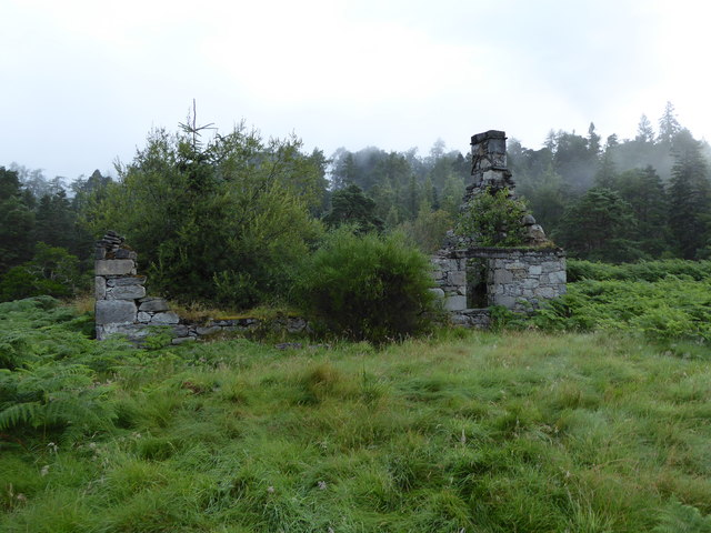 Ruined croft house, near Stronachroe