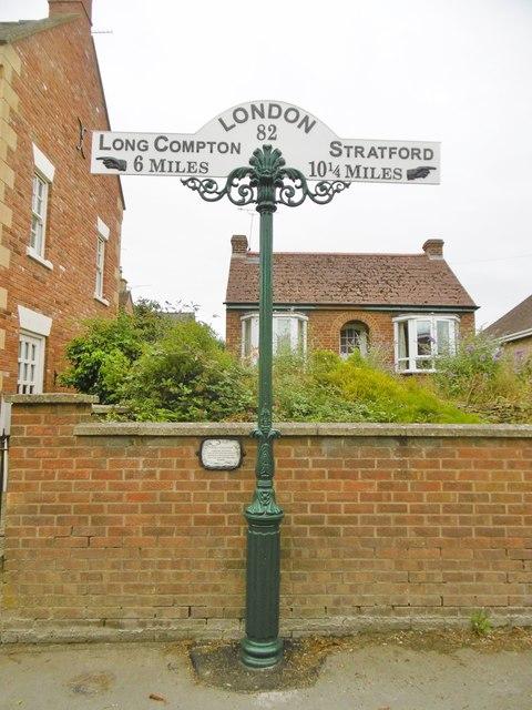 Milepost, Shipston-on-Stour