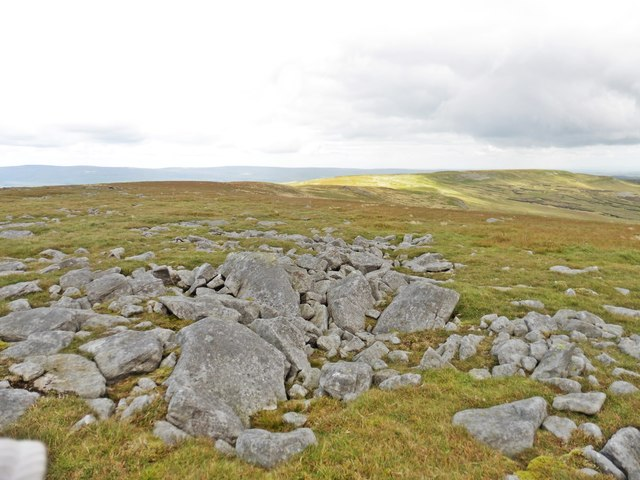 Looking east, along the Mickle Fell Ridge
