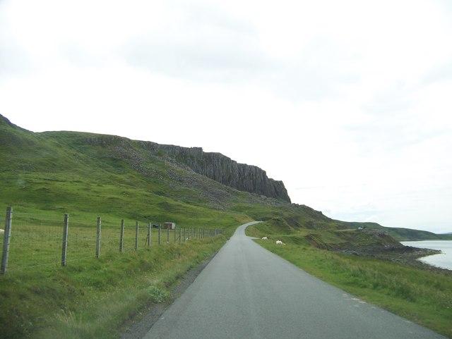 A855 leaving Duntulm