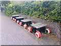 SJ8743 : Old Pit Train Bench, Trent & Mersey Canal by Brian Deegan