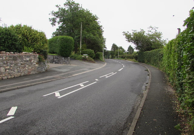 Bend in Narberth Road, Tenby