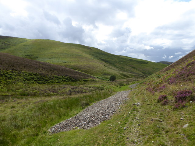 Small patches of scree below Black (or Gawky) Hill