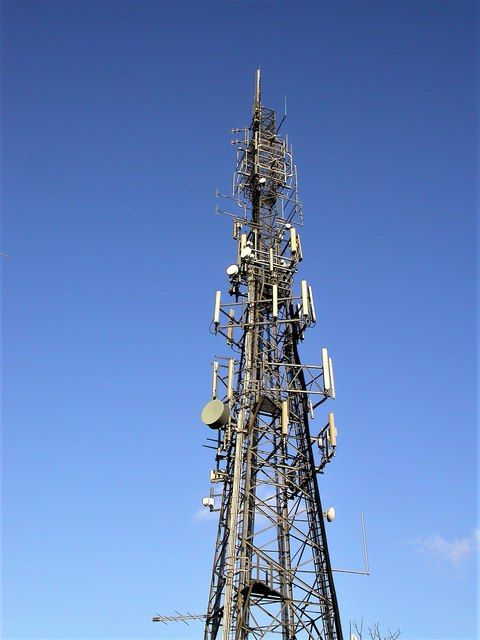 Horntye television mast in Bohemia, St Leonards on Sea