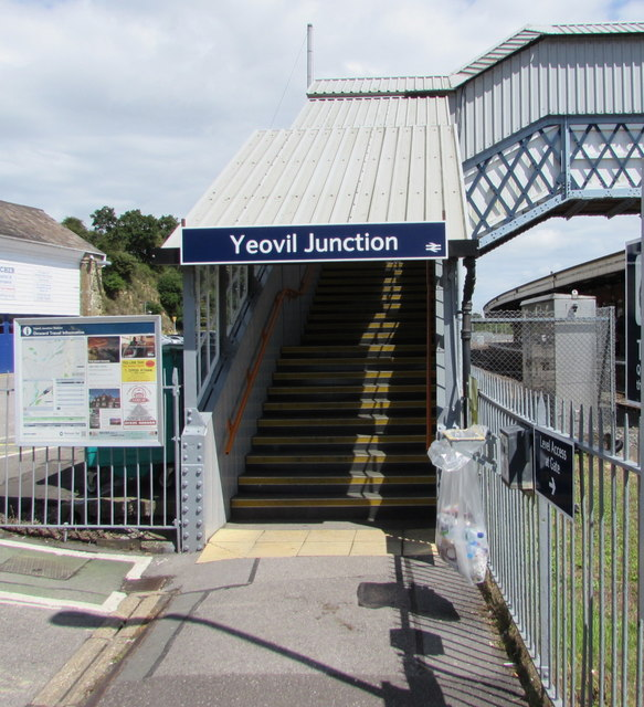 Yeovil Junction railway station entrance steps