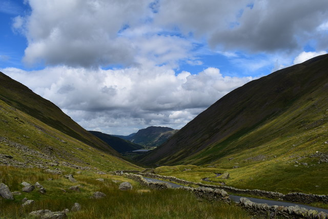 The Kirkstone pass road.