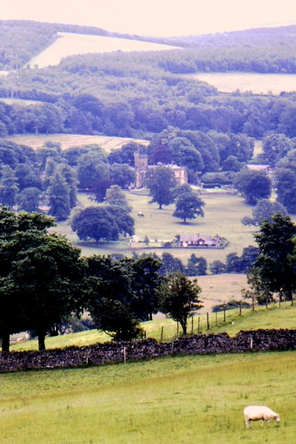Capernwray Hall from Dalton Park Wood