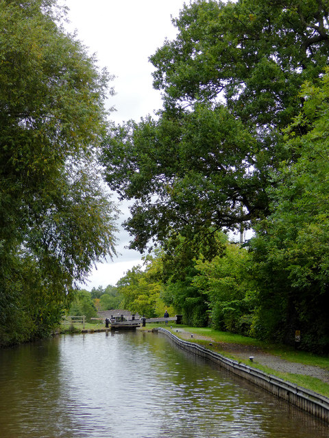 Llangollen Canal approaching Swanley Locks, Cheshire
