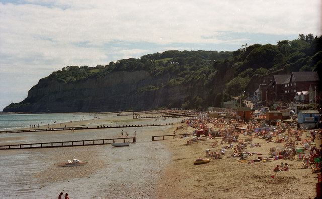 Looking southwards from Shanklin Pier in 1987