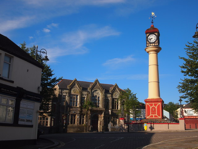 Tredegar Clock and Former Town Hall