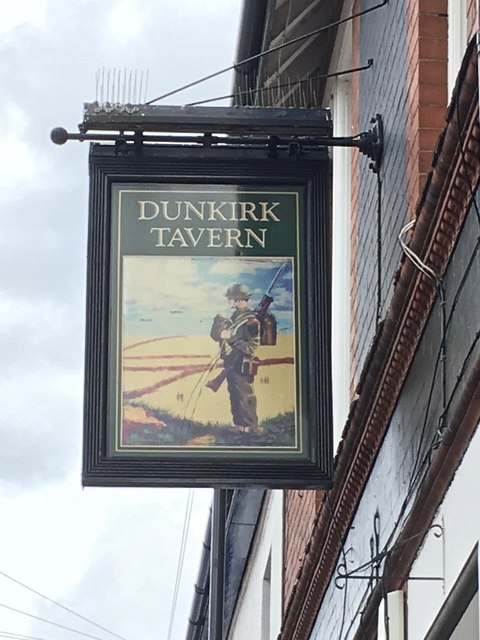 The sign of the Dunkirk Tavern