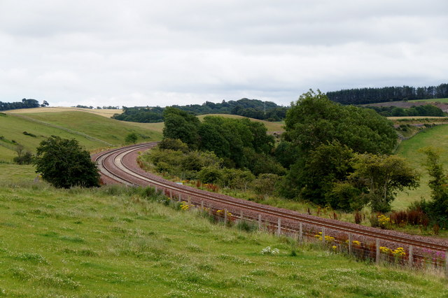 The Borders railway at Borthwick