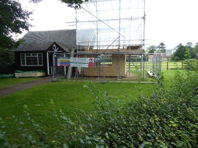 Repair work to Earl's Croome Village Hall