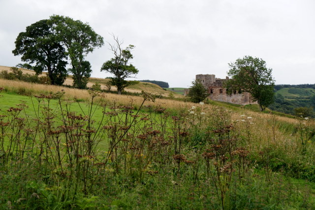 Crichton Castle from the Kirk
