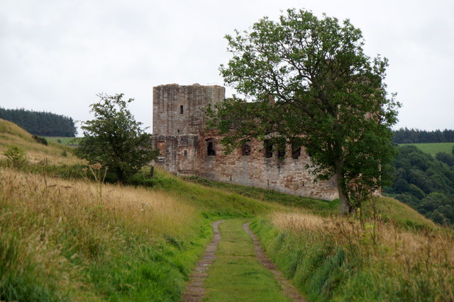 Crichton Castle from the north