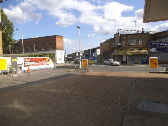 Petrol station on Southwark Park Road