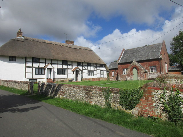 Beauworth, Church Cottages and Village Hall