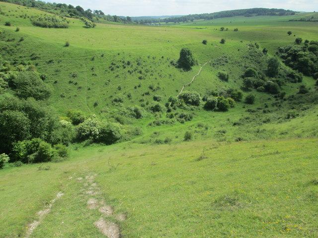 Steep path down Incombe Hole